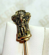Vintage 14k Yellow Gold Aetna Insurance Company Figural Stickpin Connecticut