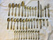 Antique Silverware Spoons Knives And Forks Lots Of 40