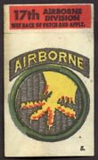 1965 Topps Battle Cards Cloth Emblem 5 17th Airborne Division