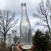 Crown Top Soda Bottle Suburban Club Baltimore Md Clear Stippled Neck 1930s