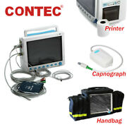 Usa Contec Vital Signs Icu Patient Monitor,optional Co2 Capnograph,printer,stand