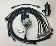 Chevy 350 Small Black Female Hei Distributor + 8.5mm Wires Under Exhaust + Coil