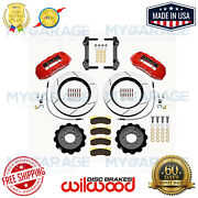 Wilwood Tx6r Front Brake Kit Red For 2005-2012 Ford F250 / F350 4wd 140-13867-r