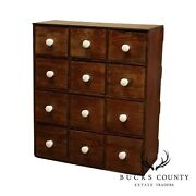 Antique 12 Drawer Pine Apothecary Chest