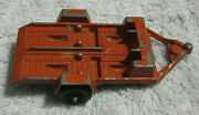 Tootsie Toy Red Cycle Motorcycle Trailer Usa Diecast 1969 Old Vintage Tootsietoy