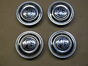 Mg Midget Rostyle Wheel Center Caps With Emblems 1970-1980 Set Of 4