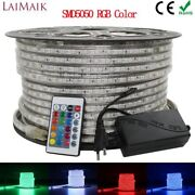 Laimaik Rgb Led Strip Light 5050 Waterproof Ip67 Ac 220v Rgb Lights 60leds/m