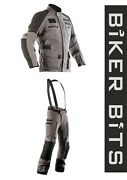 Rst Proseries X-raid Grey Ripstop Textile Motorcycle Adventure Jacket/trousers