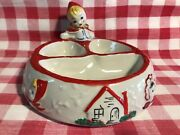 Vtg Little Red Riding Hood Baby Dish Rare 1940and039s