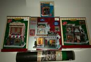 Lemax Christmas Village Lot Of 5pc. Brand New 4 Buildings 1 Display Mat W/ Box