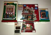 Lemax Christmas Village Lot Of 5pc. Brand New 3 Buildings, 2 Accessories W/box