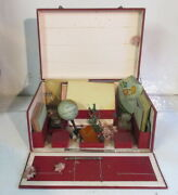 Antique French Writing Box For Children Dolls With Very Small Globe