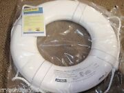 Life Ring Buoy 24 58 Gw24 White Uscg Approved Boat Safety With Straps Jim Buoy