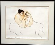 Rc Gorman Earth Child State Ii 1979 / Lithograph On Paper 75/75 22x30