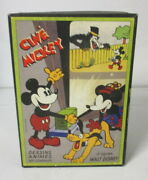 Antique 1930 Mickey Mouse Film Projector And Movies In Cardboard France
