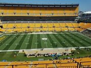 2 Steelers Partial Season Tickets Upper Level 45 Yard Line Under Cover