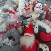 Job Lot 70 Pieces Luxury Christmas Tree Decorations Wool Crafted New Rrp Andpound300