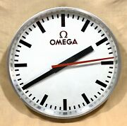 Omega Wall Clock 1960and039s Speedmaster Professional 321 Seamaster Moon Co-axial /
