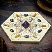 Hsfy Stress Relief Mini Crystal Grid Set - Reduce Stress Mini Crystal Grid Kit