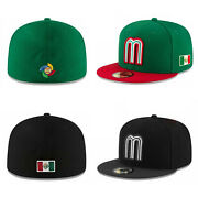 New Era 59fifty Mens Cap Mexico World Baseball Classic Black/green Fitted Hat