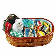 Sewing Basket With Cat France Limoges Boxes Snuff Trinket Box New French