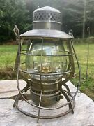 1897 Gnry Great Northern Railway Lantern The Adams Clear Ext. Base Globe