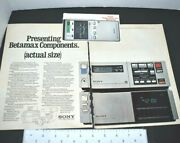 Sony Betamax Portable Vcr Video Cassette Recorder Camera 1982 Vintage Print Ad
