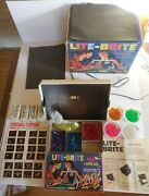 1967 Hasbro Lite-brite Toy Extra Long Pegs Works Sheets Instructions Order Form