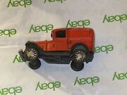 Vintage Cast Iron Toy- Red Station Wagon