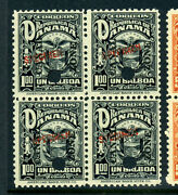 Canal Zone Scott 69a-g Arms Of Panama Specimen Nh Set Of Blocks Of 4 Stamps