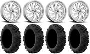 Fuel Kompressor Polished 20 Wheels 34 Moto Mtc Tires Sportsman Rzr Ranger