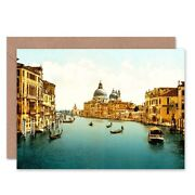 Vintage Photo Travel Grand Canal Venice Italy New Blank Greeting Card