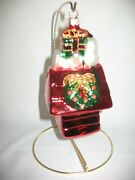 Snoopy Dog House Charlie Brown, Snoopy, Peanuts Blown Glass Ornament -new