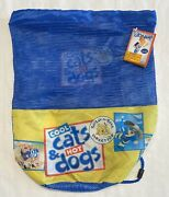 Nwt Build A Bear Cool Cats And Hot Dogs Ds Backpack Bag Mesh Toy Carrier 2011 New