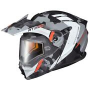 Scorpion Exo At950 Outrigger Dual Lens Cold Weather Helmet - Matte Grey - Xs