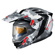 Scorpion Exo At950 Outrigger Electric Shield Helmet - White / Grey - Choose Size