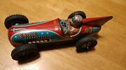 I.y.metal Toys Eagle Racer 57 Car Made In Japan 1950 Large 10and039and0391/2