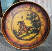 Circa 1860 French Infantry Soldier Motif Hand Painted Toleware Tray France