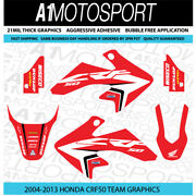 Honda Crf50 Oem-red Factory Hrc Team Graphics 2004-2013 21mil Thick Laminated