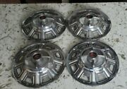 Lot Of 4 Ford Fairlane Gt 14 Hubcaps