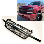 For 05-07 Chevy Silverado 1500 2500hd 3500 Front Upper Black Grille Replacement