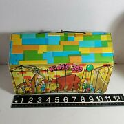Vintage Kiddie Zoo Ideal Toy Corp Fold Out Playset Carry Case 60s 70s Ob4b15