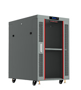 22u 35 Deep Server Rack Cabinet Gray It Enclosure/free Shipping And Accessories