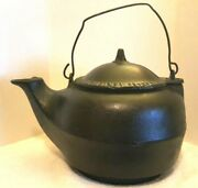 Antique 1871 Tennesee Agricultural Works Nashville Cast Iron Water Kettle No. 7