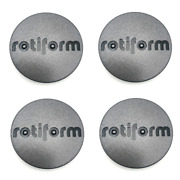 Set Of 4 Rotiform Anthracite Gray And Black Wheel Center Hub Cap 2.36 Snap In 100
