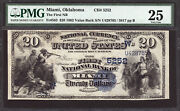 20 1882 Value Back The First National Bank Of Miami Oklahoma Ch 5252 - Pmg 25