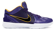 Brand New Ds Kobe 4 Protro Undefeated Los Angeles Lakers Purple Size 9