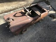 Antique Vintage Red Fire Chief Pedal Car Original Paint Ladder Type Bell Works