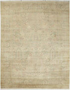 8x10 Hand-knotted Lahore Carpet Oriental Beige Fine Wool Area Rug D40524