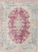 10x14 Hand-knotted Vintage Antique Carpet Oriental Red Fine Wool Area Rug D57261